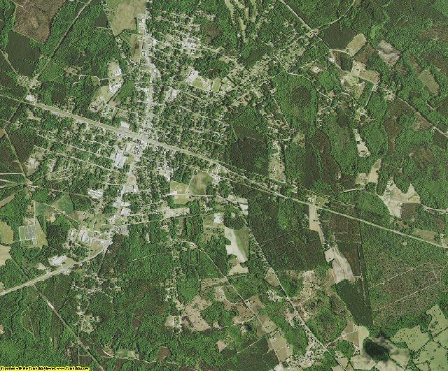 Bamberg County, South Carolina aerial photography