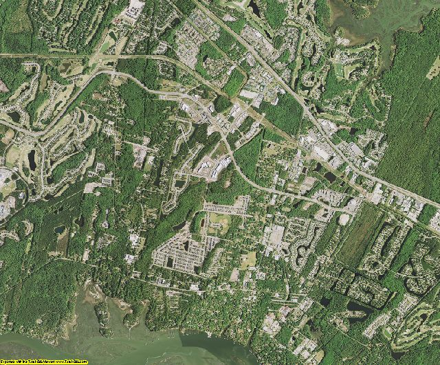 Beaufort County, South Carolina aerial photography