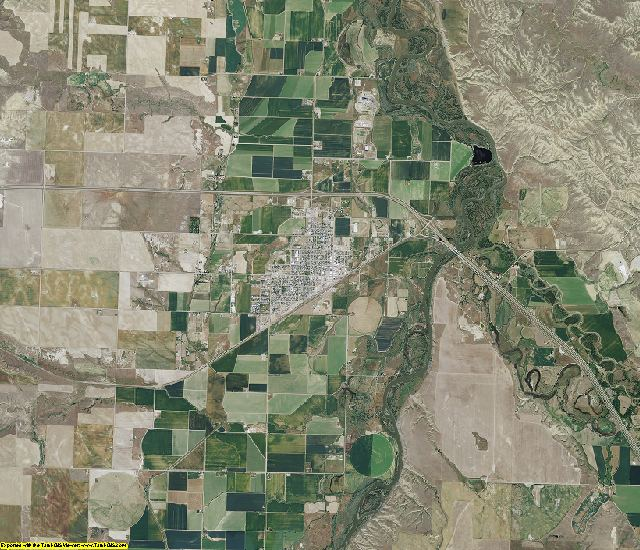 Big Horn County, Montana aerial photography