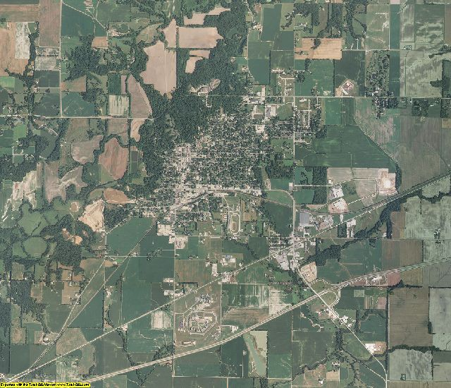 Bond County, Illinois aerial photography
