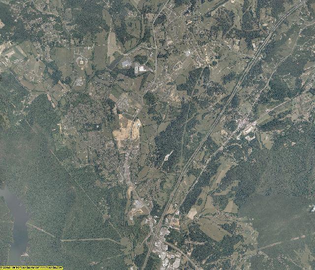 Botetourt County, Virginia aerial photography