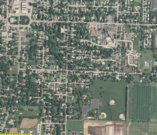 Bureau County, IL aerial photography detail