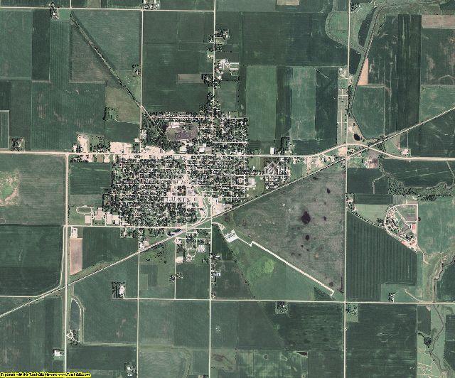 Calhoun County, Iowa aerial photography