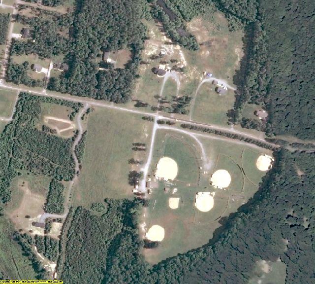 Caroline County, VA aerial photography detail