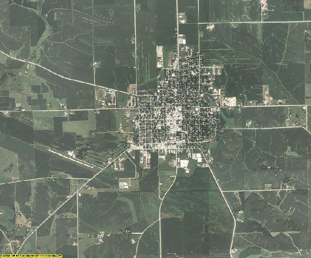 Cedar County, Iowa aerial photography