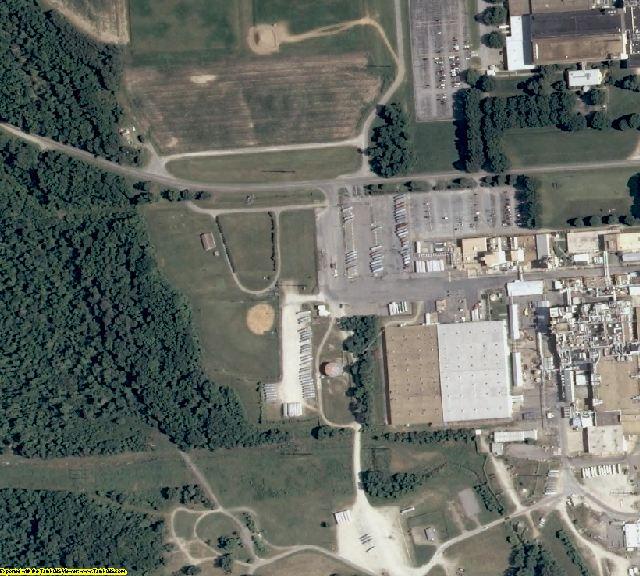 Charles City County, VA aerial photography detail