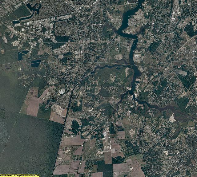 Chesapeake County, Virginia aerial photography