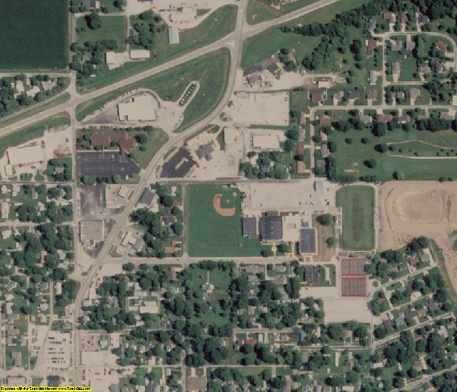 Clark County, IL aerial photography detail