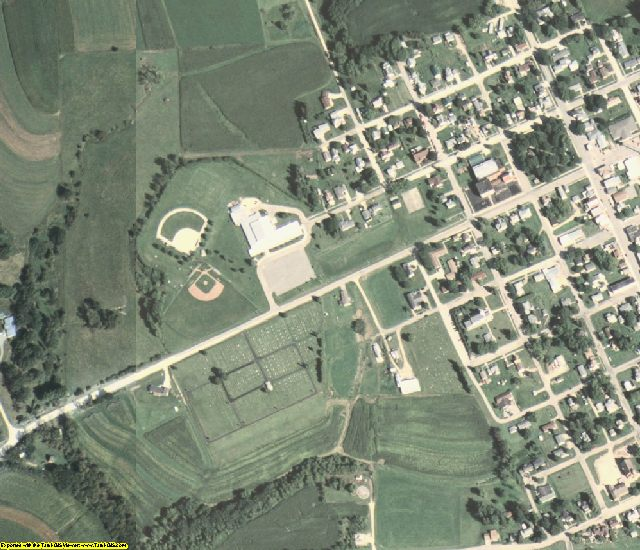 Clayton County, IA aerial photography detail