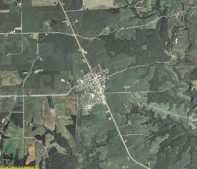 Clayton County, Iowa aerial photography