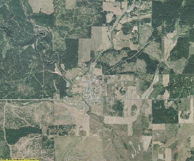 Clearwater County, Idaho aerial photography