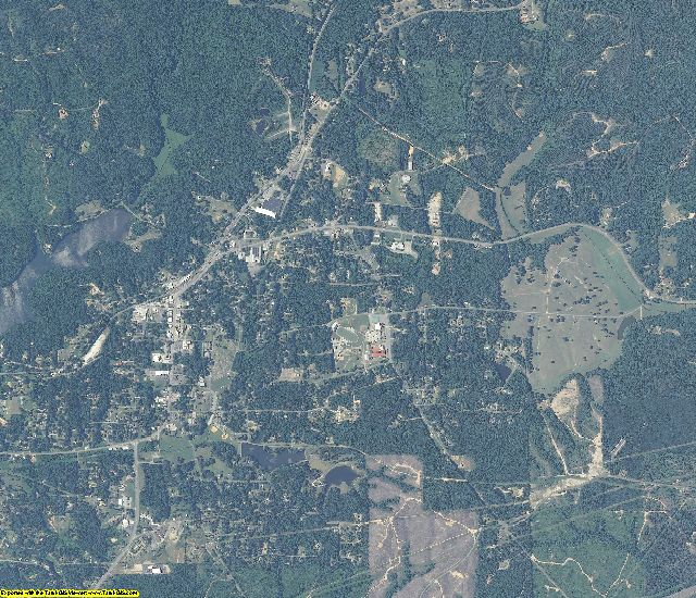 Cleburne County, Alabama aerial photography
