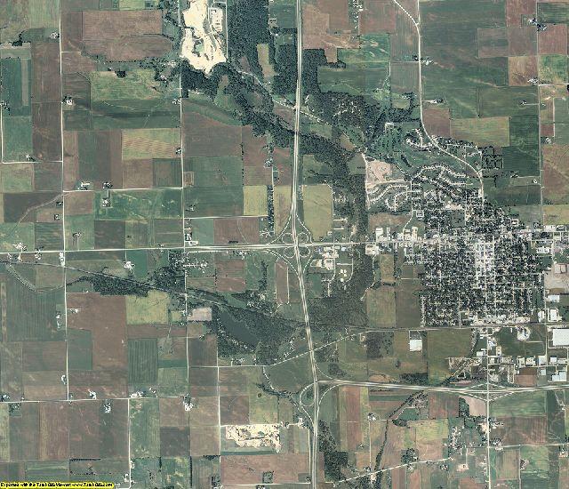 Clinton County, Iowa aerial photography