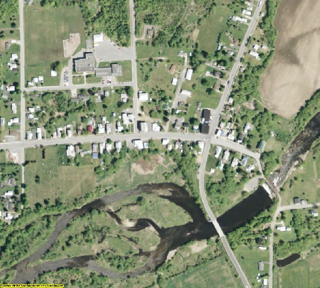 Clinton County, NY aerial photography detail