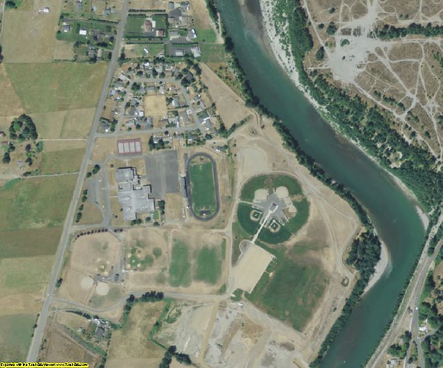 Cowlitz County, WA aerial photography detail