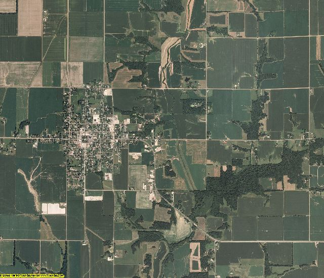 Cumberland County, Illinois aerial photography