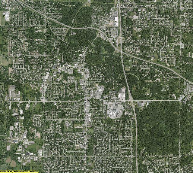 Cuyahoga County, Ohio aerial photography