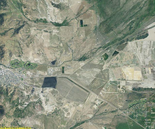 Deer Lodge County, Montana aerial photography