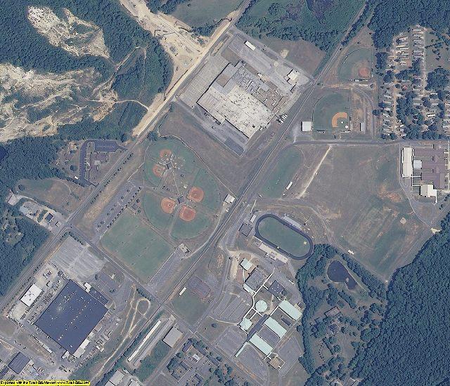 DeKalb County, AL aerial photography detail