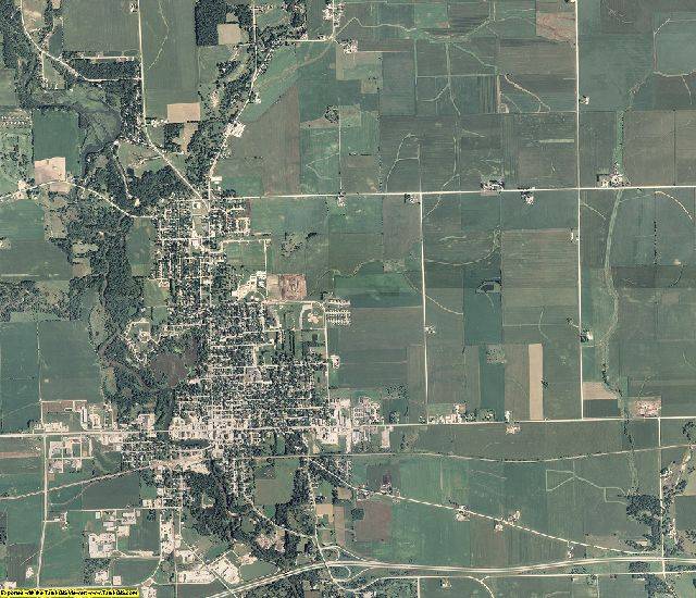 Delaware County, Iowa aerial photography