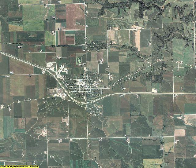 Dubuque County, Iowa aerial photography