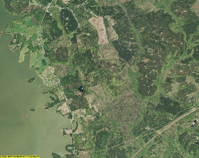Fairfield County, South Carolina aerial photography