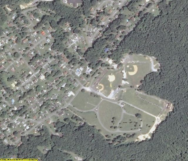 Fayette County, WV aerial photography detail