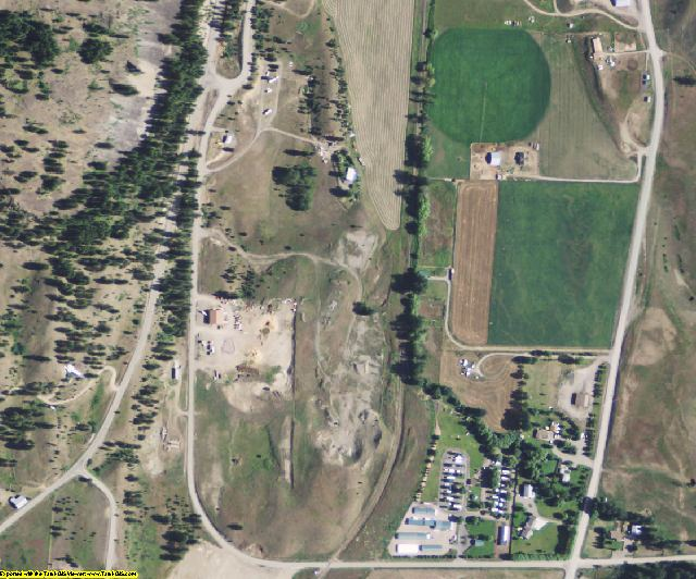 Ferry County, WA aerial photography detail
