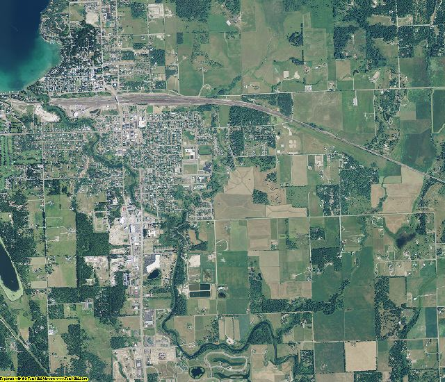 Flathead County, Montana aerial photography