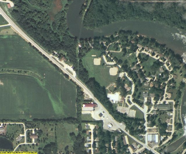 Floyd County, IA aerial photography detail