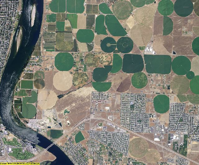 Franklin County, Washington aerial photography