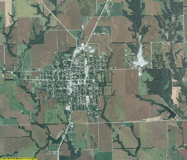 Greene County, Illinois aerial photography