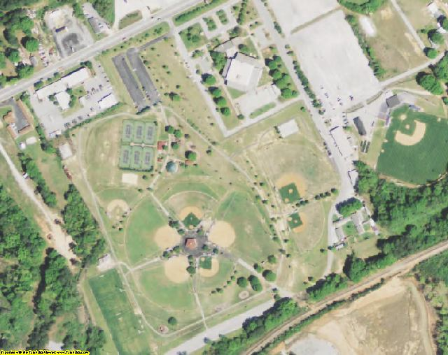 Greenwood County, SC aerial photography detail