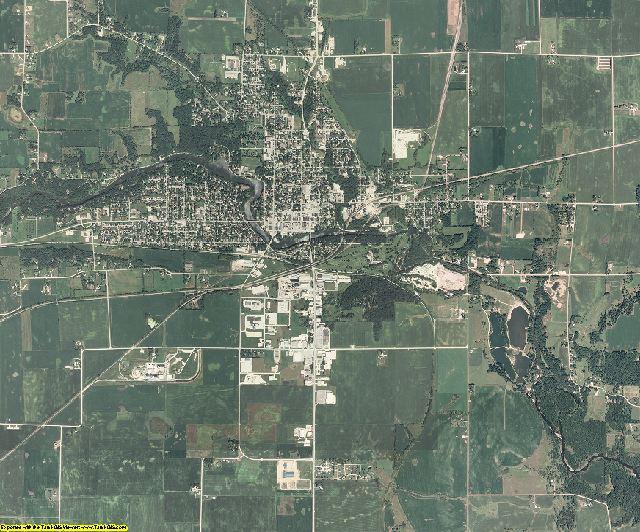 Hardin County, Iowa aerial photography