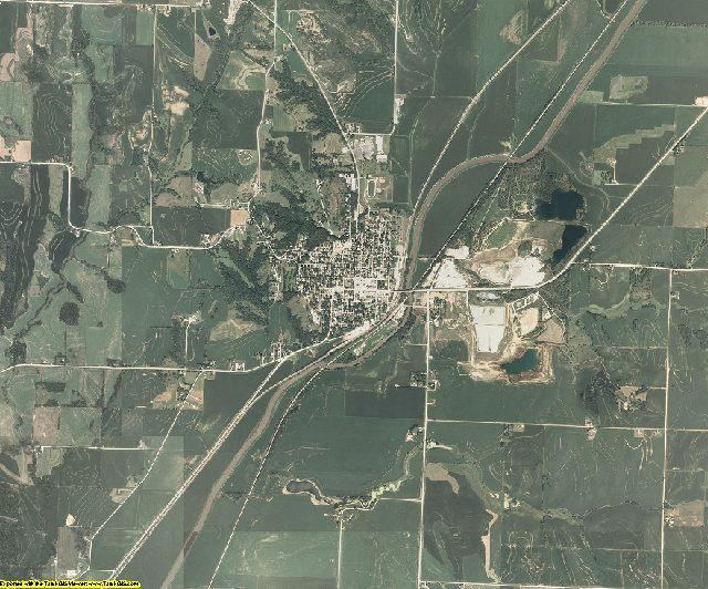 Harrison County, Iowa aerial photography