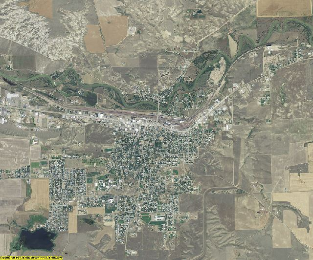 Hill County, Montana aerial photography