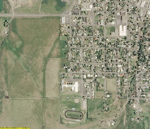 Idaho County, ID aerial photography detail