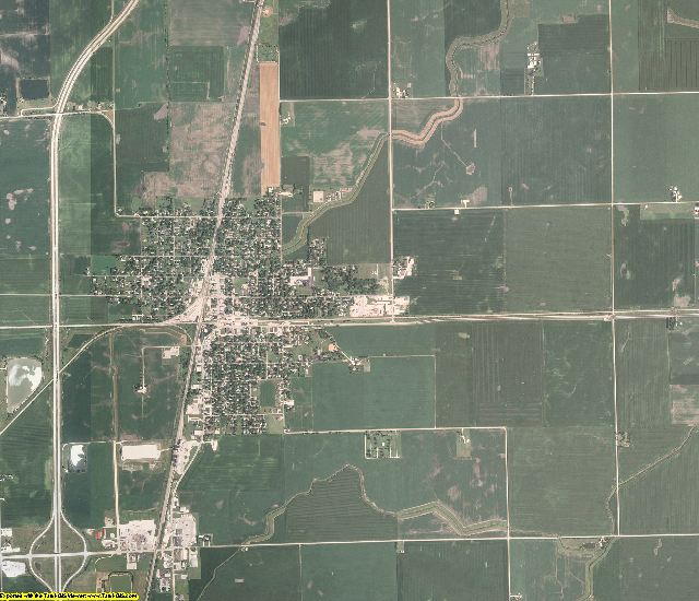 Iroquois County, Illinois aerial photography