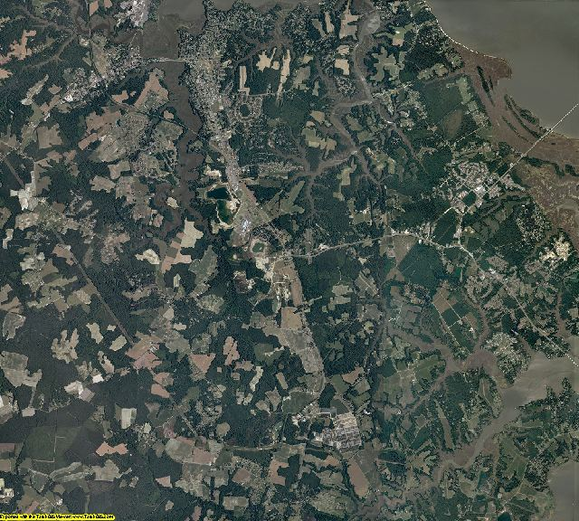 Isle of Wight County, Virginia aerial photography
