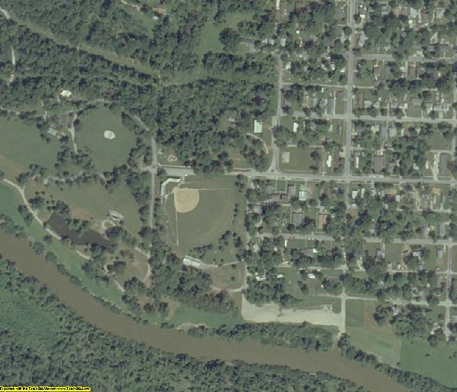 Jackson County, IL aerial photography detail