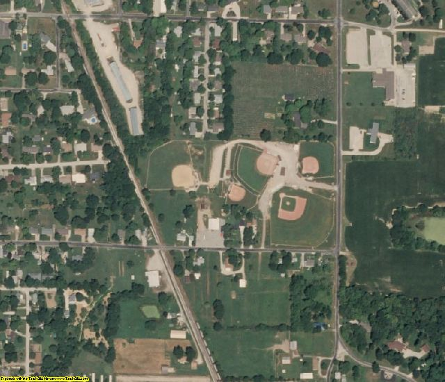 Jasper County, IL aerial photography detail