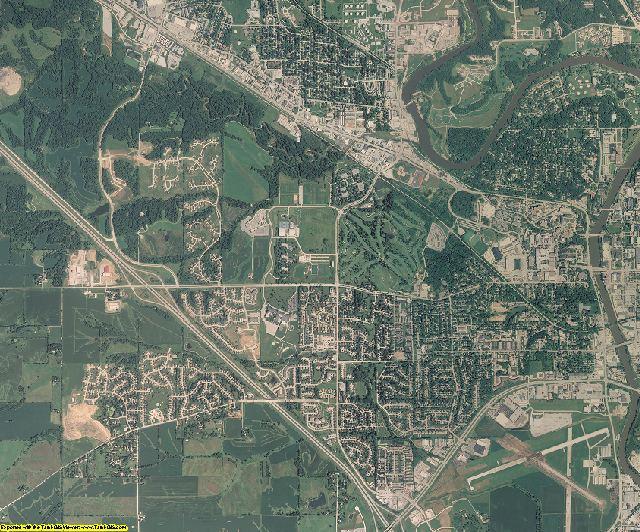 Johnson County, Iowa aerial photography