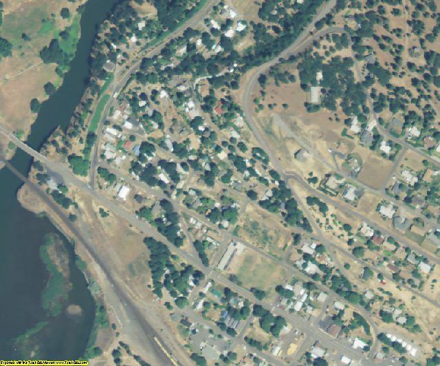 Klickitat County, WA aerial photography detail