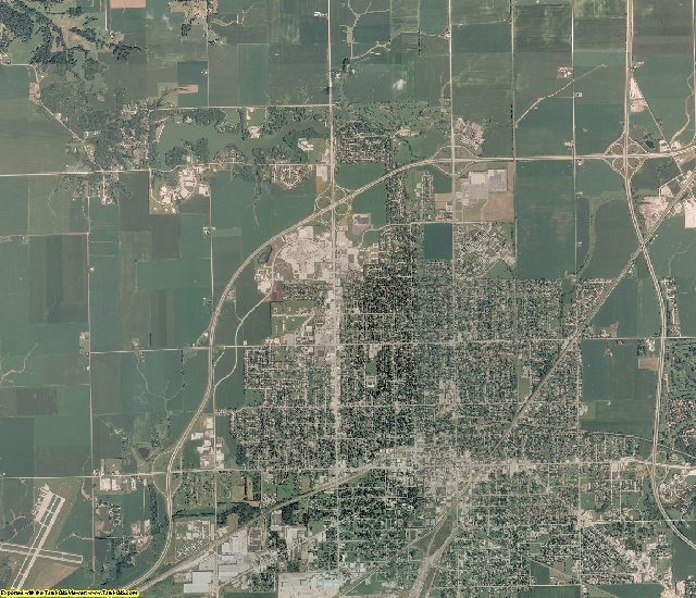 Knox County, Illinois aerial photography
