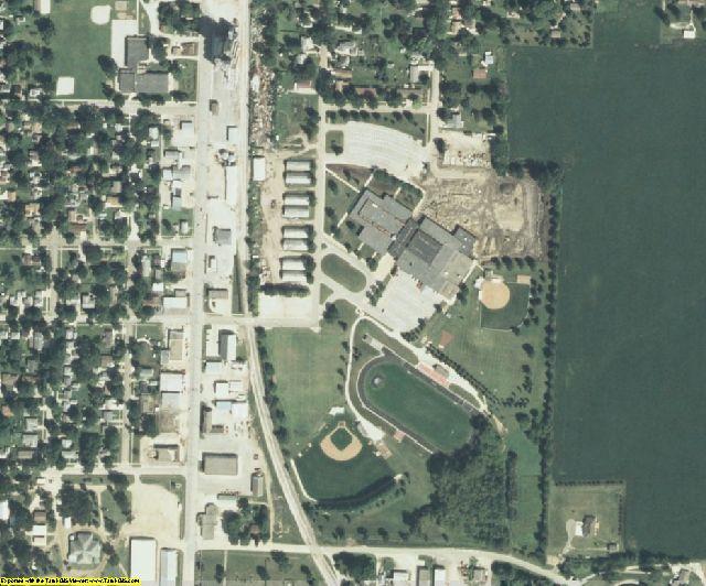 Kossuth County, IA aerial photography detail
