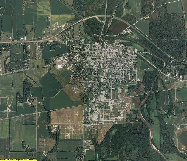 Lawrence County, Illinois aerial photography