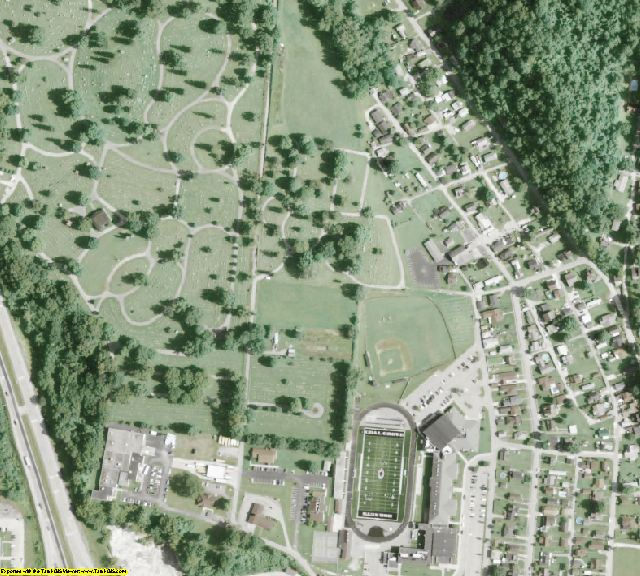 Lawrence County, OH aerial photography detail