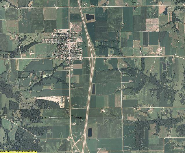 Lee County, Iowa aerial photography