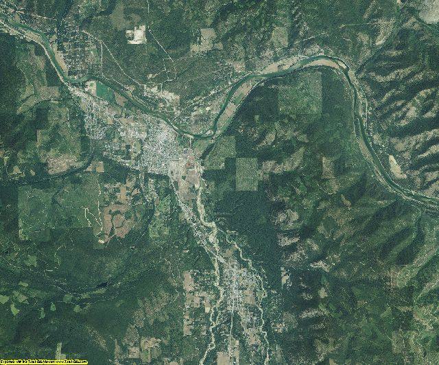Lincoln County, Montana aerial photography