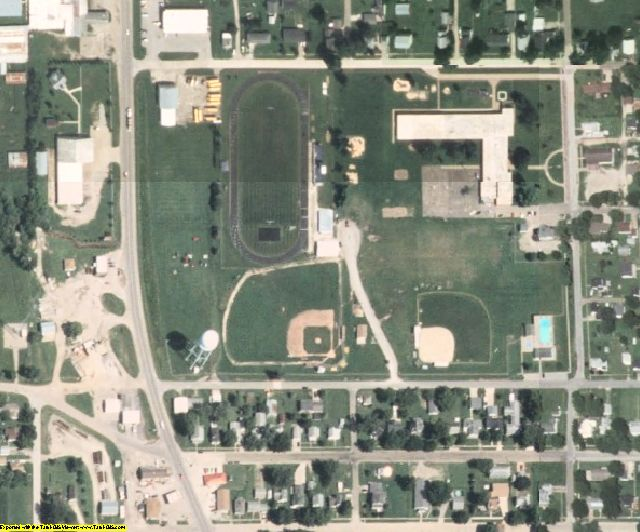 Louisa County, IA aerial photography detail